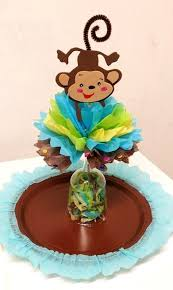 monkey centerpieces for baby shower baby shower theme centerpieces adrianas creations