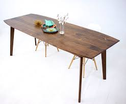 Modern Dining Furniture Buy A Custom Santa Barbara Mid Century Modern Dining Table Made