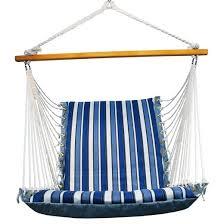 Soft Comfort Soft Comfort Patio Hanging Chair Blue Stripe Target