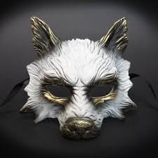 wolf mask 2017 white gold humble hungry scary wolf mask unisex resin