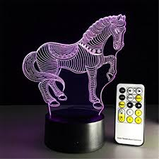 Zebra Desk Accessories Zebra Desk L 3d 7 Colors Change Touch Switch Remote