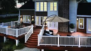 composite railing kits deck railing fiberon