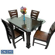 oak wood dining table nurjahan furniture di 48 oak wood dining table with 4 chair dark