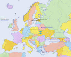 Map Of Modern Europe by Uoa Hermes Homepage