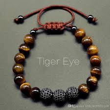 braided bracelet images 2018 new men tiger eye bracelet 8mm and 10mm micro pave cz stone jpg