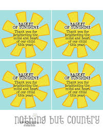 printable tags for gift baskets basket of sunshine end of the year teacher gift printable tag