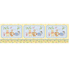 amazon com winnie the pooh wall border nursery wall borders baby