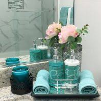 mermaid themed bathroom sequin shimmer teal bath collection home textile pinterest