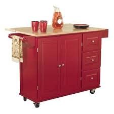 red kitchen cart island red kitchen islands carts you ll love wayfair