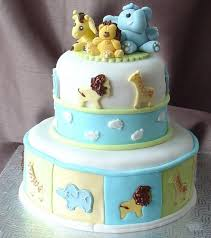 baby shower cake decorations for a boy cute jungle animals baby