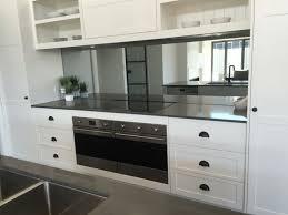mirror backsplash in kitchen white kitchen smoke grey mirror splashback by verity