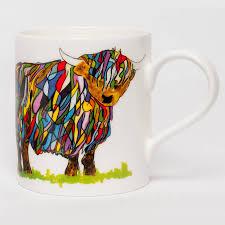 cow mug royal worcester wrendale highland cow mug multi bluewater