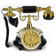 Desk Telephones Lnc Retro Vintage Antique Style Rotary Dial Desk Telephone Phone