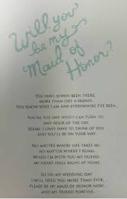 how to ask of honor poem awesome way to ask your friend to be the of honor and how