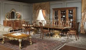 classic dining rooms in classic style made in italy classic dining rooms in louis xvi style in walnut
