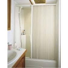 Shower Curtain Door Pleated Shower Door White Up To 36 W X 57 L Irvine Shade