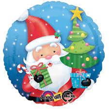santa balloon delivery 18 santa with tree helium foil balloon delivery in dubai abu dhabi
