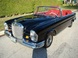 convertible mercedes black 1964 mercedes benz 220 se cabriolet for sale