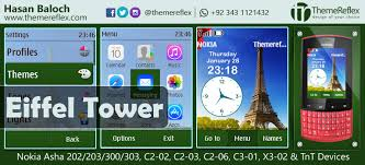 themes for nokia c2 touch and type eiffel tower theme for nokia asha 202 203 300 303 x3 01 c2 02