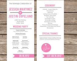 modern wedding program chevron wedding invitation and rsvp design diy printable