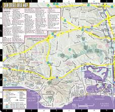 San Diego City Map by Streetwise San Diego Map Laminated City Center Street Map Of San