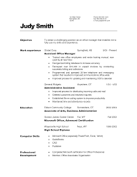 Generic Resume Objective Examples by Resume For General Job Best Free Resume Collection