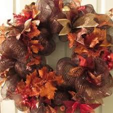 Thanksgiving Deco Mesh Wreaths Fall Deco Mesh Wreath With Pumpkins Flowers Berries And Pretty
