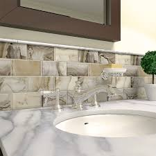 shop elida ceramica volcanic essence glass mosaic subway wall tile