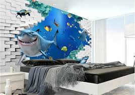 3d room 3d room wallpaper custom photo non woven mural marine life tv