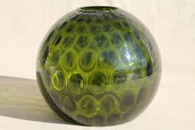 hand blown glass light globes green glass coin spot dot l globe hand blown art glass light shade