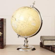gentlemen s antique world globe chrome desk ornament by dibor