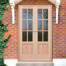 Oak Exterior Door by Exterior Hemlock Gtp 2 Panel Door Pair Fit Your Own Glass