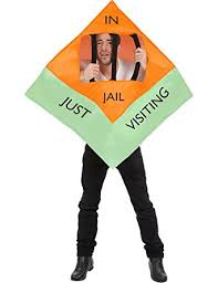 Halloween Jail Costumes Amazon Unisex Jail Monopoly Board Game Visiting