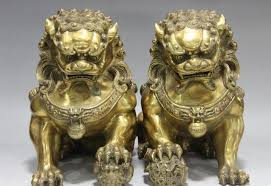 images of foo dogs royal feng shui copper brass evil door guardian fu foo