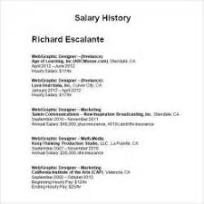 Resume With Salary History Example what to put for salary requirement listing salary requirements