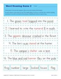 free passage filled with context clues for students to determine