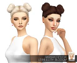 miss paraply leahlillith s blossom hair retextured sims 4 hairs