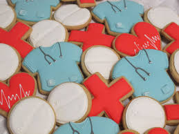 Doctor Nurse Medical Decorated Sugar Cookies Collection Med