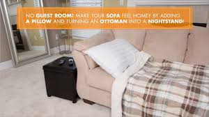 sofa that turns into a bed big lots quick tip turn your couch into a guest bed youtube