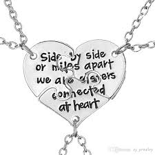 friendship heart necklace images Wholesale friendship jewelry hand stamped side by side or miles jpg
