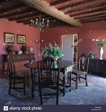 Antike Esszimmer In Eiche Antike Eiche Tisch Und Stühle Im Roten Land Esszimmer Mit Ziegel