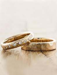 fingerprint wedding band lito custom fingerprint wedding ring ken design