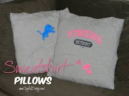 how to make a pillow out of a sweatshirt joyful daisy