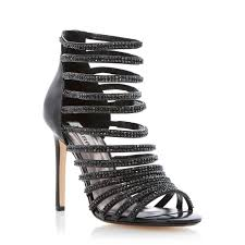 black and silver strappy heels red heels vip
