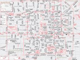Beijing Map Beijing Map Full Urban Downtown Bilingual Map In Chinese Showing
