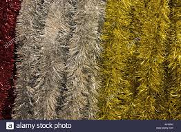 silver and gold tinsel decorations on sale uk stock