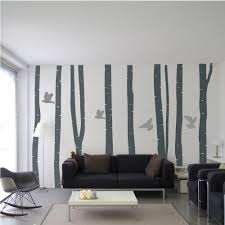 contemporary silver birch tree forest wall decals wallboss wall silver birch forest wall stickers