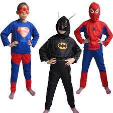Halloween Costumes 1 2 Free Shipping Halloween Costume Spiderman Superman Batman
