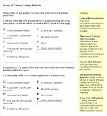 16 training survey templates u2013 free sample example format