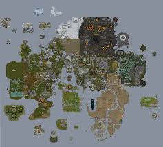 Oldschool Runescape World Map by Rs World Map Timekeeperwatches
